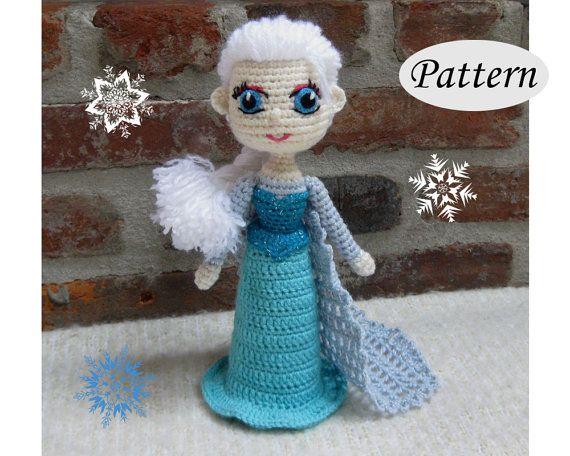 PATTERN  Snow Queen Elsa  Amigurumi  Crochet by CrochetCuteDolls