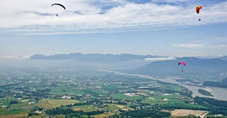 Parasailing from Bridal Falls Provincial Park - Image Copyright Tim Epp