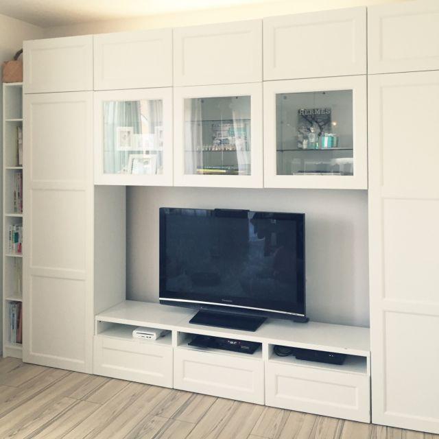 letterさんの、テレビボード,壁面収納,部屋全体,のお部屋写真