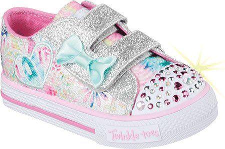 Skechers Kids Shuffles Light-Up Sneaker (Toddler), Pink/Multi, 8 M US Toddler - http://all-shoes-online.com/skechers-kids/skechers-kids-twinkle-toes-shuffles-sweet-steps-76