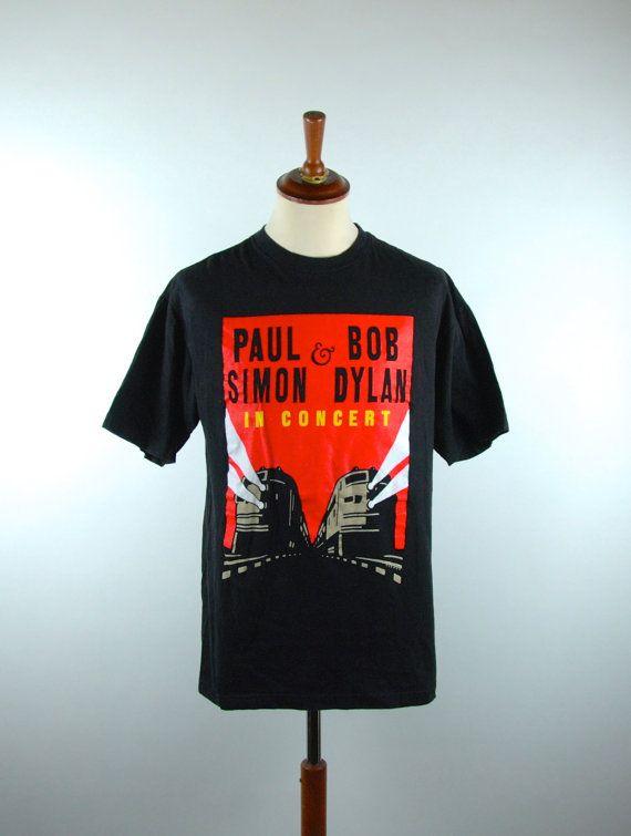 Paul Simon and Bob Dylan TOUR T-Shirt Art by Michael Schwab