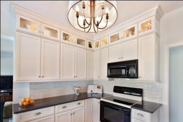 Glass Doors Above Cabinets