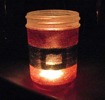 Glittery Santa's Belly Jar | Crafts by Amanda: Crafts Ideas, Christmas Crafts, Belly Jars, Christmas Stuff, Jars Crafts, Jars Mason, Crafts Glue, Mason Jars, Christmas Ideas