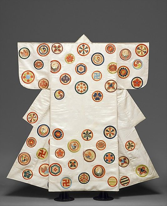 Noh Costume (Nuihaku) with Scattered Crests, Edo period (1615-1868), Japan