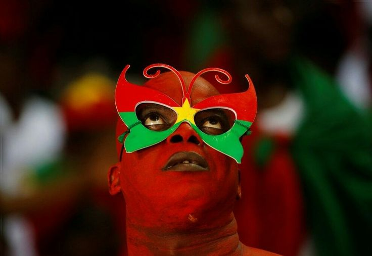 A Burkina Faso fan before the African Nations Cup match Mike Hutchings/REUTERS