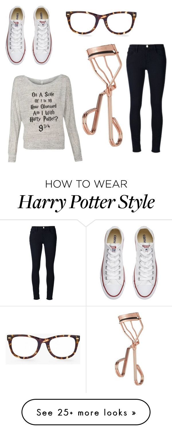 """Harry Potter Outing"" by rgymnast on Polyvore featuring Converse, Chico's, Frame Denim and Tweezerman"