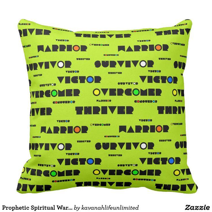 Prophetic Spiritual Warfare CHRISTIAN SOLDIER Throw Pillow