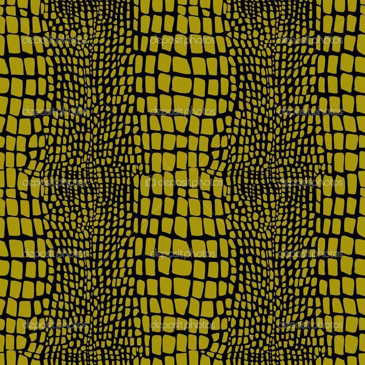 padrão sem emenda de pele de réptil - Ilustração de Stock: 35054317