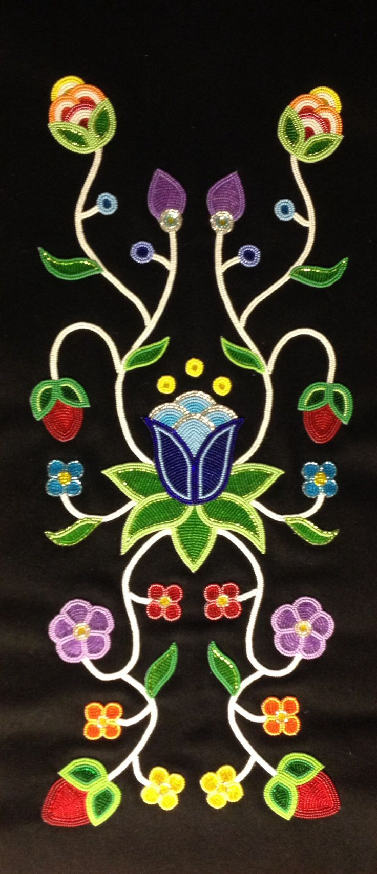 Woman's panel. Designed and beaded by Jessica Gokey 2013