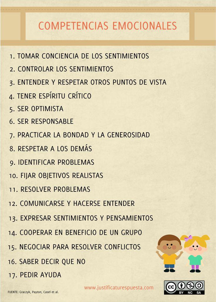 17 Competencias emocionales para trabajar con tus alumnos.