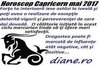 În horoscopul Capricornului din luna mai 2017 precumpănesc activităţile mentale febrile şi fructuoase, reclădirea obiectivă a imaginii perso...