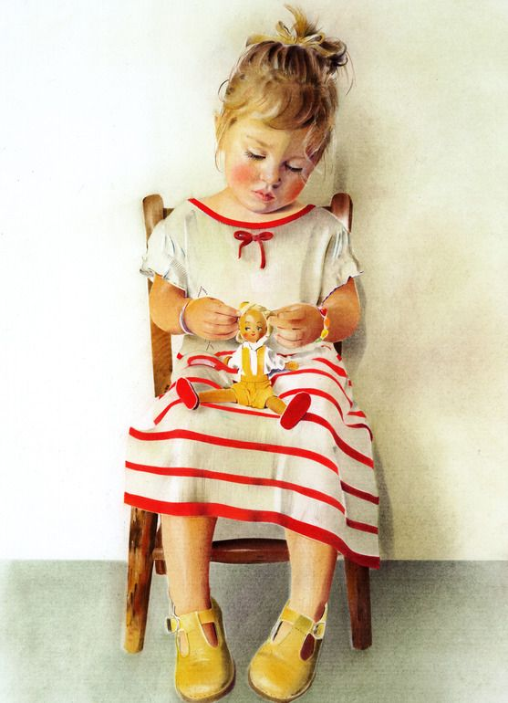 "Saatchi Online Artist: Anna Roberts; Pastel, 2012, Drawing ""Doll"""