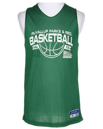 Green Reversible Basketball Jersey - S