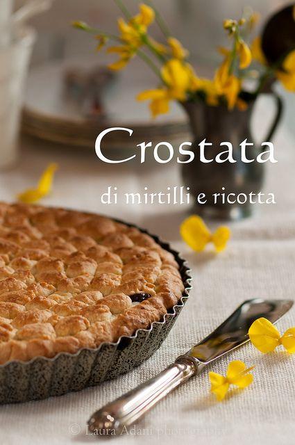 Crostata di mirtilli e ricotta– Blueberries and ricotta cheese tart