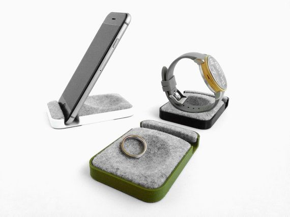 unique Multifunctional tray watch stand smartphone by FodCraft
