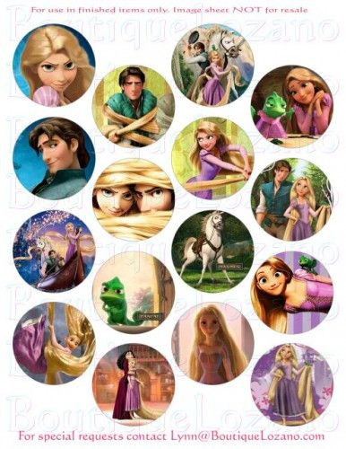 Rapunzel cupcake toppers