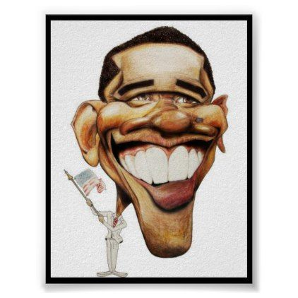 President Barak Obama Poster - #customizable create your own personalize diy