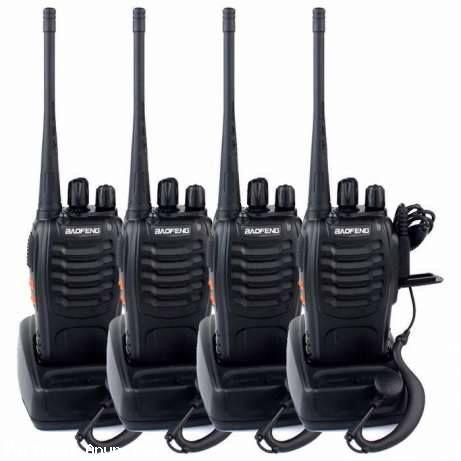 CONJUNTO 4 RÁDIOS BAOFENG DE 5 WATTS UHF MODELO BF-888S