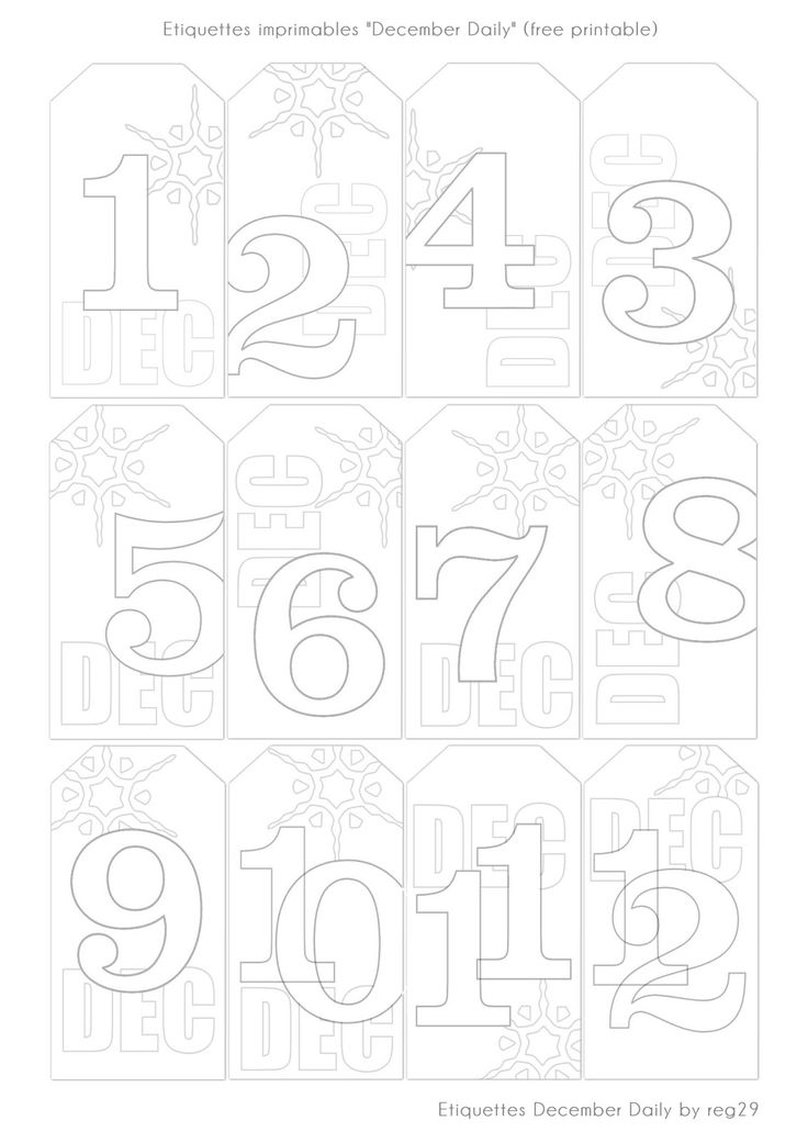 Etiquettes imprimable - free printable - december daily