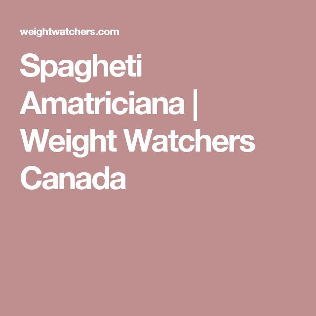Spagheti Amatriciana   Weight Watchers Canada