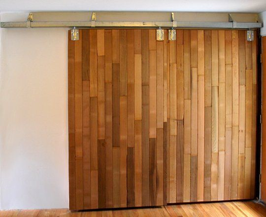 DIY Barn Doors Made from Reclaimed Lumber, trying to find ha use for our leftover wood flooring