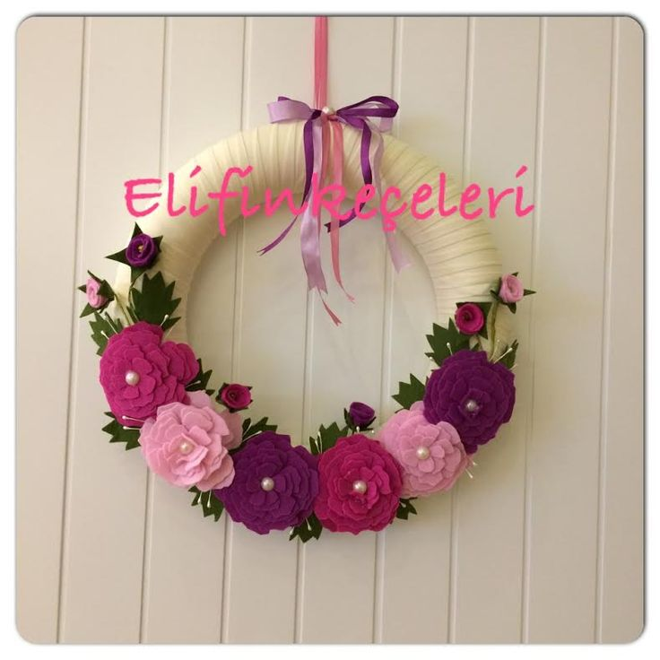 Çiçekli kapı süsü,Wreaths flowers