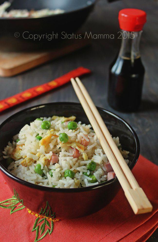 ricetta originale riso risotto alla cantonese insalata tiepida facile primo piatto ricetta Statusmamma food art styling