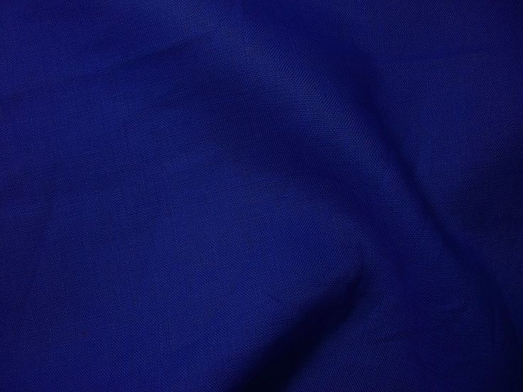 100% Leinenstoff royalblau