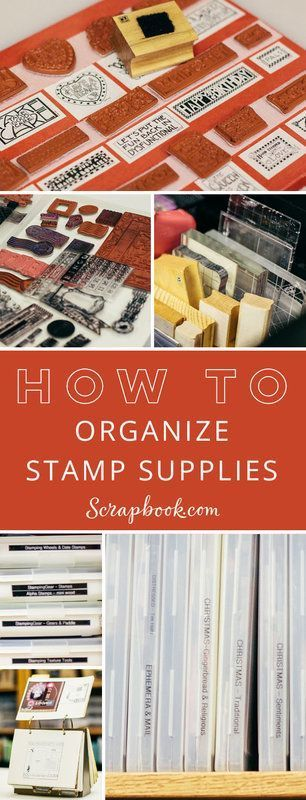 Get lots of tips and tricks for organizing your stamping supplies at http://Scrapbook.com.