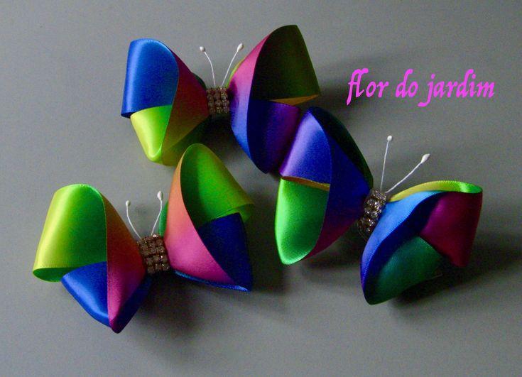 DIY -como fazer uma linda borboleta colorida facil e rápida.Passo a Passo