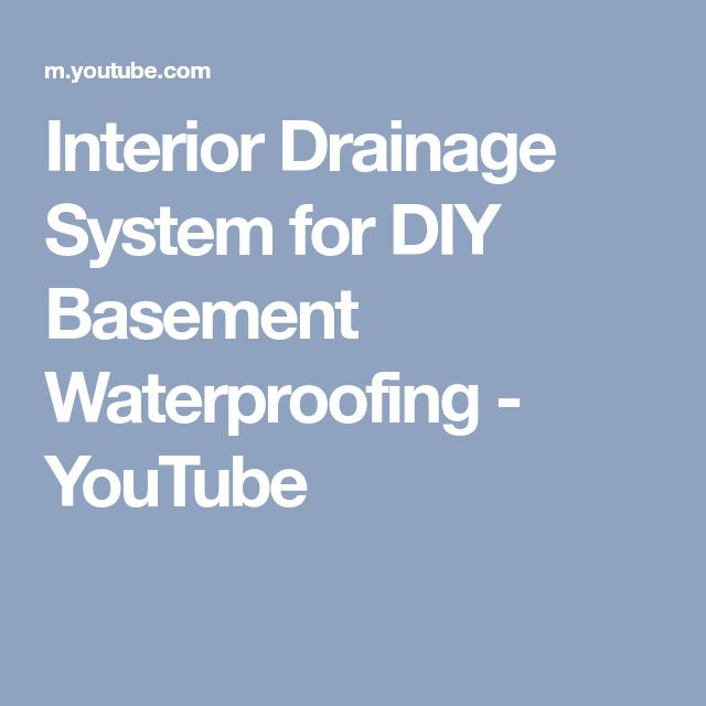 Interior Drainage System for DIY Basement Waterproofing - YouTube