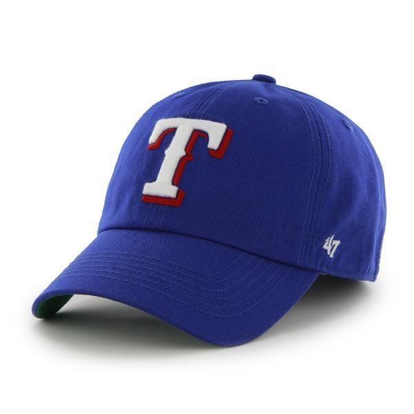 pretty nice d740f bf8ce Texas Rangers 47 Brand Franchise Blue White Logo T Flag Back Hat Cap