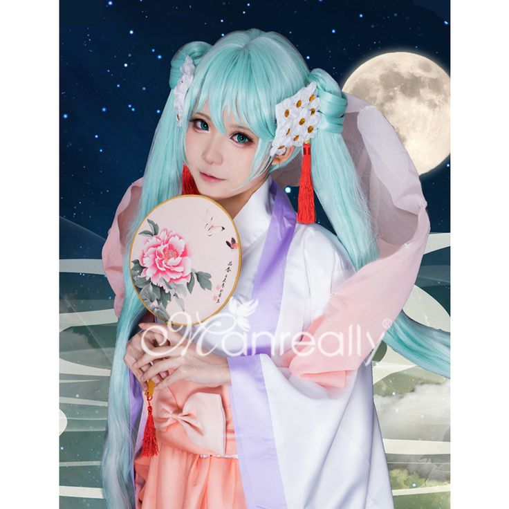 Man V home Hatsune miku true harvest moon moon cos wig special spot to send hairnet - Taobao global Station