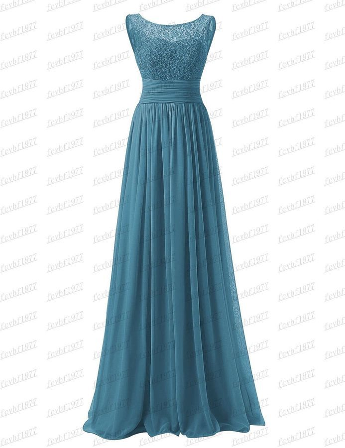 Long Chiffon Evening Gown Bridesmaid Dresses Prom Formal Party Ball Gowns 6-26