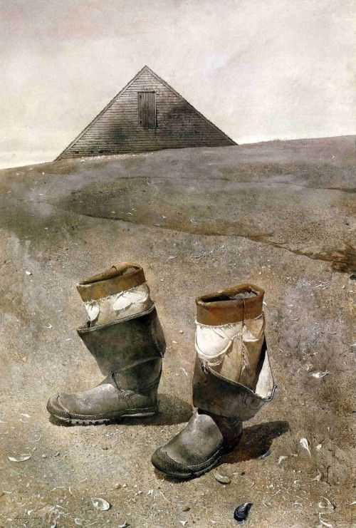 """Sea boots"" (1976), by Andrew Wyeth:"