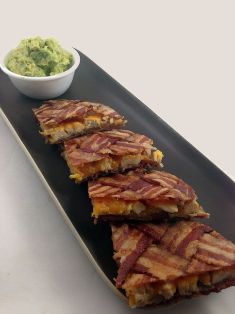 Did somebody say bacon?   The Bacon Weave Quesadilla (for those on a low-carb, high fat diet ;)