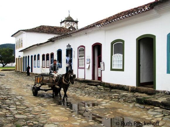 Horse Carriage in Parati, Brazil