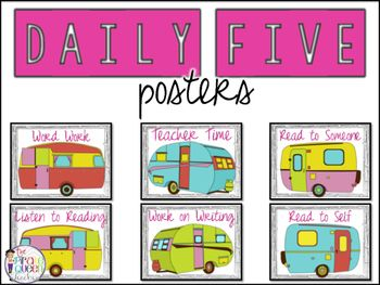 Get your Daily Five time organized while bringing cute into your classroom! This…