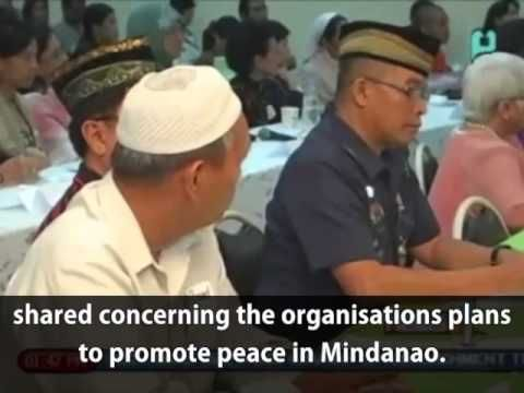 Mindanao Peace agreement signing between Catholic-Islam, Man Hee Lee bro...