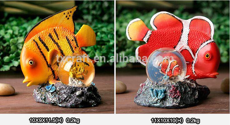 Unieke vis ontwerp strand thema sneeuw water globe, custom made hars sneeuwbol-souvenirs-product-ID:60445265167-dutch.alibaba.com