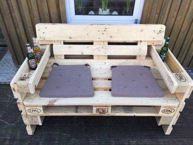 Gartensofa 2 Sitzer Aus Europaletten Sommer Sonne Gartenzeit E Pallet Furniture Outdoor Wooden Pallet Furniture Pallet Projects Furniture