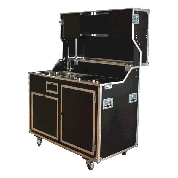 Mobile Schrank Koffer Küche in 9 mm Birkensperrholz, phenolharz beschichtet.
