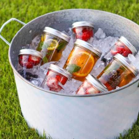 Treat Guests to Fruit Filled Jars of Summer Sun Tea