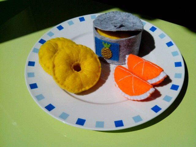 Piña y naranjas