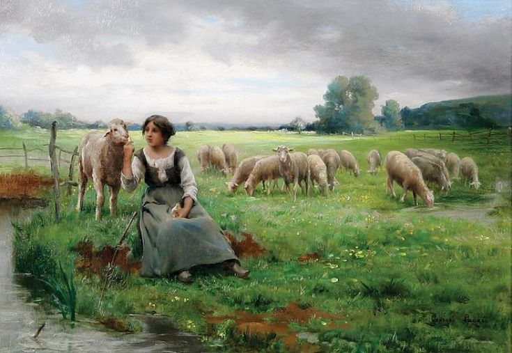 THE YOUNG SHEPHERD, BY GEORGE FRANCOIS PAUL LAUGEE