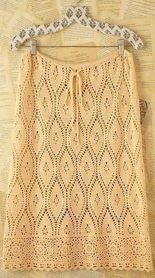 Los patrones de ganchillo para las faldas