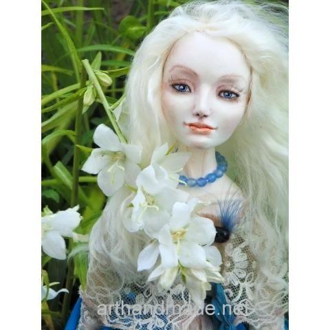 "Boudoir doll ""Blue bird"". Author Svetlana Gumenyuk - http://arthandmade.net/gomenuk.svetlana  Boudoir doll, doll, interior doll, collectible doll, handmade doll, interior, gift, original gift, collection, Gallery Magical World, будуарные куклы, куклы, купить куклу, интерьерная кукла, коллекционная кукла, интерьер, подарок, оригинальный подарок, коллекция, Галерея Волшебный мир"