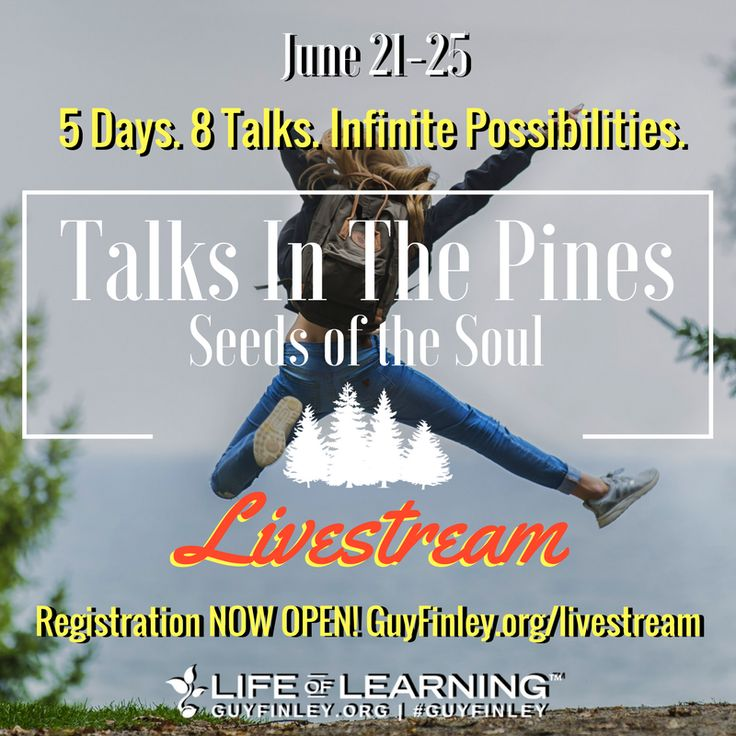 """We each have a secret character hidden away in us that is created for just the alchemical purpose of transforming any dark influence into a beneficial force."" ~ Guy Finley  Join us from anywhere in the world for these 5 life-changing days! Sign up now and save 40% with our Early Bird special! Click to register: www.guyfinley.org/livestream"