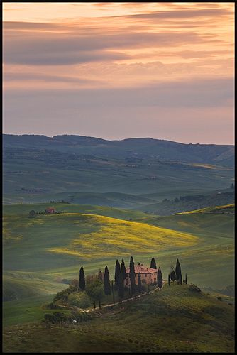 "Tuscany - Is it really this beautiful everywhere? ...I even love the ""creepy Italian trees"".  ^.^"