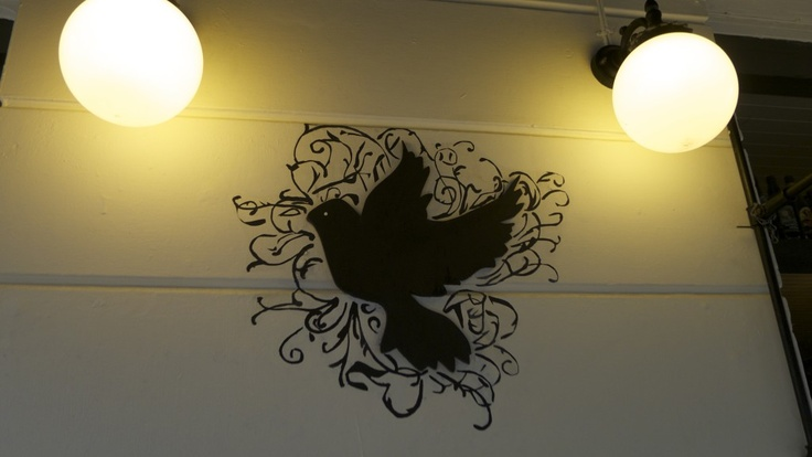 look out for this when walking up St James st... the Black Dove awaits you...